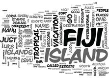 Why Fiji Word Cloud Stock Photography