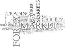Why Forex Is A Better Investment Idea Than Stocks Or Commodities Word Cloud Stock Image