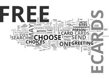 Why Free Ecards Word Cloud. WHY FREE ECARDS TEXT WORD CLOUD CONCEPT royalty free illustration