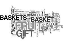 Why Fruit Baskets Make A Good Gift Word Cloud Royalty Free Stock Image