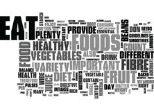 Why Fruits And Vegetables Are Important Word Cloud Stock Photography