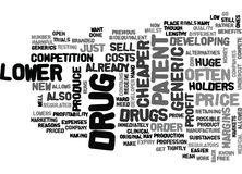 Why Are Generic Drugs Cheaper Word Cloud. WHY ARE GENERIC DRUGS CHEAPER TEXT WORD CLOUD CONCEPT stock illustration