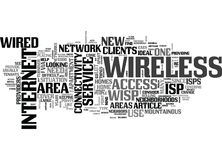 Why Go Wireless With Your Isp Word Cloud Stock Image