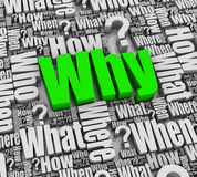 Why? Royalty Free Stock Photography