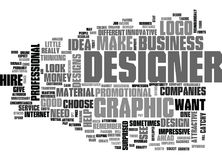 Why Hire A Graphic Designer Word Cloud. WHY HIRE A GRAPHIC DESIGNER TEXT WORD CLOUD CONCEPT Stock Photography