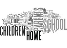 Why Home School Your Child Word Cloud. WHY HOME SCHOOL YOUR CHILD TEXT WORD CLOUD CONCEPT Royalty Free Stock Image