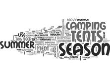 Why I Do Not Use Season Tents Word Cloud Royalty Free Stock Photos