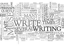 Why I Killed My Muse And You Should Too Word Cloud Stock Image
