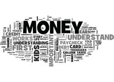 Why It Is Important To Teach Your Kids About Money Word Cloud Stock Photos