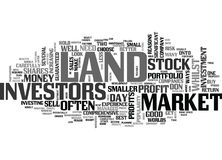Why Land Beats Stocks And Shares Word Cloud Royalty Free Stock Photo