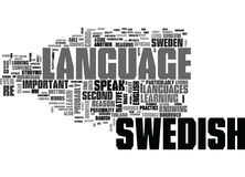 Why Learn Swedish Word Cloud. WHY LEARN SWEDISH TEXT WORD CLOUD CONCEPT Royalty Free Stock Photo