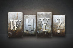 Why? Letterpress Royalty Free Stock Images