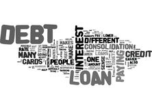 Why A Loan To Consolidate Debt Makes Sense Word Cloud Stock Image