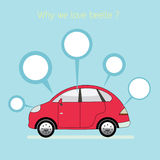 Why we love beetle. vector illustration
