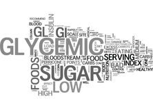Why Low Glycemic Foods Word Cloud Stock Photos