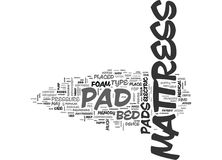 Why A Mattress Pad Matters Word Cloud. WHY A MATTRESS PAD MATTERS TEXT WORD CLOUD CONCEPT Stock Images