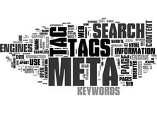 Why Meta Tags Usedword Cloud Royalty Free Stock Photography