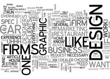 Why Most Design Firms Won T Do Spec Work Word Cloud Royalty Free Stock Images