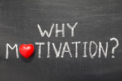 Why motivation. Question handwritten on school blackboard stock images