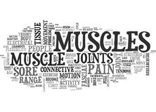 Why Muscles Get Sore Word Cloud Stock Photos