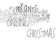 Why Not Buy Your Christmas Presents Online Word Cloud Royalty Free Stock Image