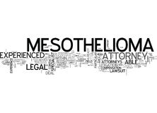 Why Opt For An Experienced Mesothelioma Attorney Word Cloud Stock Photography