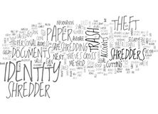 Why A Paper Shredder Keeps You Safe From Identity Theft Word Cloud royalty free illustration