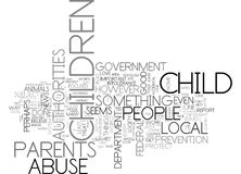 Why Are Parents Permitted To Destroy Their Own Children Word Cloud Royalty Free Stock Photo
