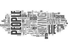 Why People Lie Word Cloud Stock Photography
