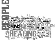 Why People Are Not Healed And How To Prevent It Word Cloud Stock Photo