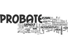 Why Probate Word Cloud. WHY PROBATE TEXT WORD CLOUD CONCEPT Royalty Free Stock Photos