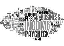 Why Profits And Not A Paycheck Create Wealth Word Cloud Stock Photos