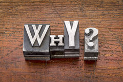 Why question in metal type Royalty Free Stock Photo