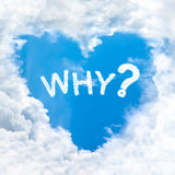 Why question word on blue sky Royalty Free Stock Photos