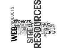 Why Resources Added To A Web Site Increase Revenue Word Cloud Royalty Free Stock Image
