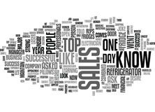 Why Is A Salesperson Like A Refrigerator Word Cloud. WHY IS A SALESPERSON LIKE A REFRIGERATOR TEXT WORD CLOUD CONCEPT royalty free illustration