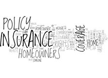 Why Should You Get A Homeowner Insurance Word Cloud Stock Photos