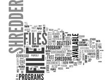 Why Shred Files And What Are Good File Shredder Downloads Word Cloud. WHY SHRED FILES AND WHAT ARE GOOD FILE SHREDDER DOWNLOADS TEXT WORD CLOUD CONCEPT Stock Photo