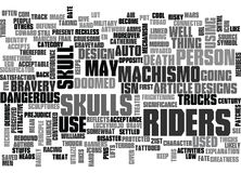 Why Are Skulls Linked To Riders Word Cloud Royalty Free Stock Photos
