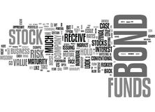 Why Are Stock Funds Riskier Than Bond Funds Word Cloud Royalty Free Stock Photography