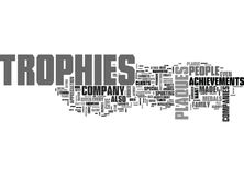Why Are Trophies And Plaques Important Word Cloud Stock Image