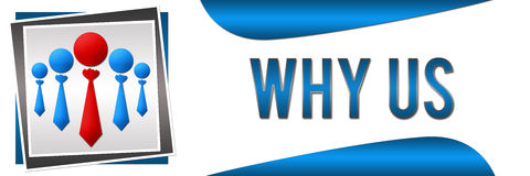 Why Us Banner Royalty Free Stock Image