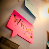 Why word. Word written on paper Royalty Free Stock Photography