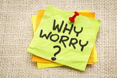 Why worry question Stock Photos