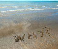 Why written on the beach royalty free stock image