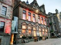 Whyky het proeven in het hart van Edinburgh stock fotografie