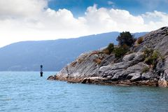Whytecliff Islet Park Near Horseshoe Bay in West Vancouver Royalty Free Stock Image