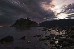 Whytecliff на заходе солнца стоковое фото