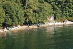 Whytecliff BC公园海滩加拿大 图库摄影