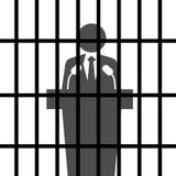 więzień polityczny royalty ilustracja